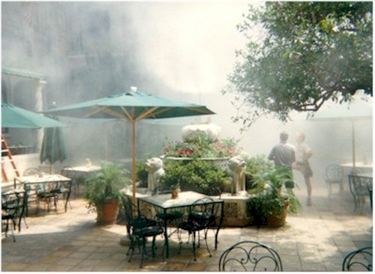 Restaurants and Resort Misting Systems