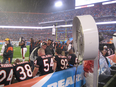 Big Fogg Misting Fans to Cool Bears & Colts at Super Bowl XLI