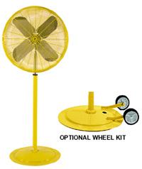 Industrial Yellow Misting Fan