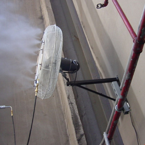 Industrial Wall Mount Misting Systems