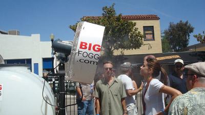 Big Fogg Misting Fans working at Los Angeles Marathon on Sunday, March 15, 2015