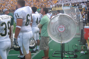 Misting Fans to cool thousands of victims of Hurricane Katrina