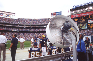 CHILL OUT – A Temecula company supplies the misting systems to sports teams