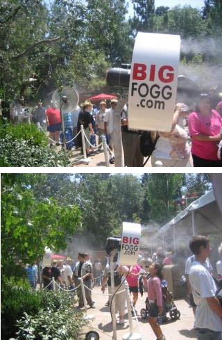 BigFogg Misting System at Disneyland's 50th Anniversary
