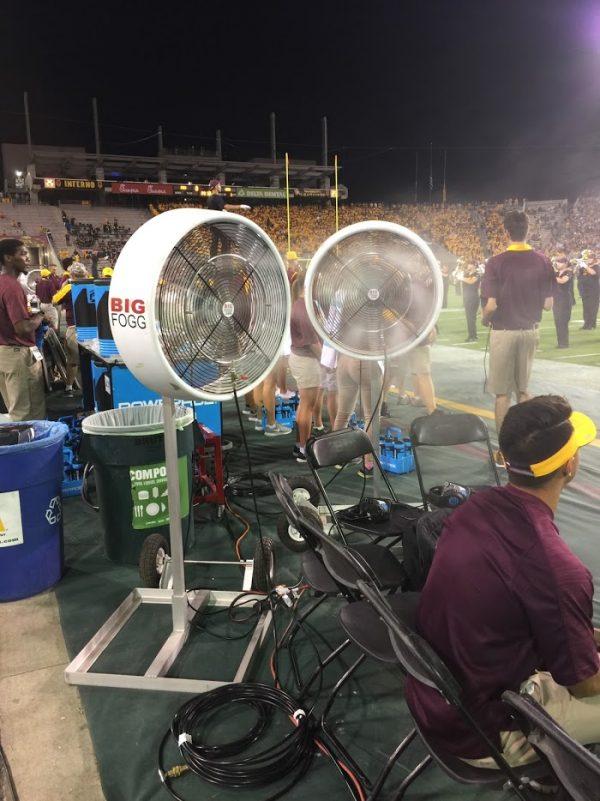 Sideline Misting fans