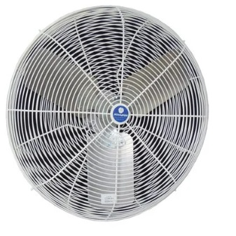 """front view of 24"""" Circulation Fan, White OSHA Guards"""