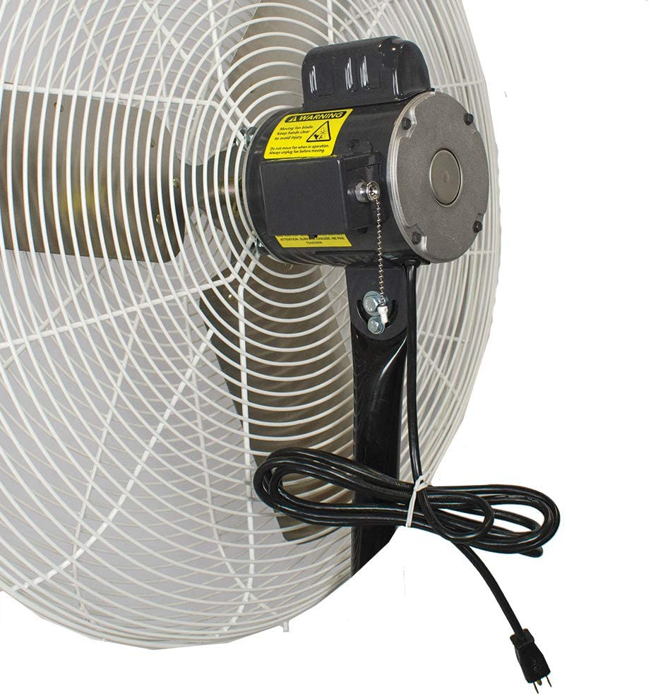 "Motor of 30"" Circulation Fan, White OSHA Guards"