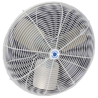 """front view of 20"""" Circulation Fan, White OSHA Guards"""