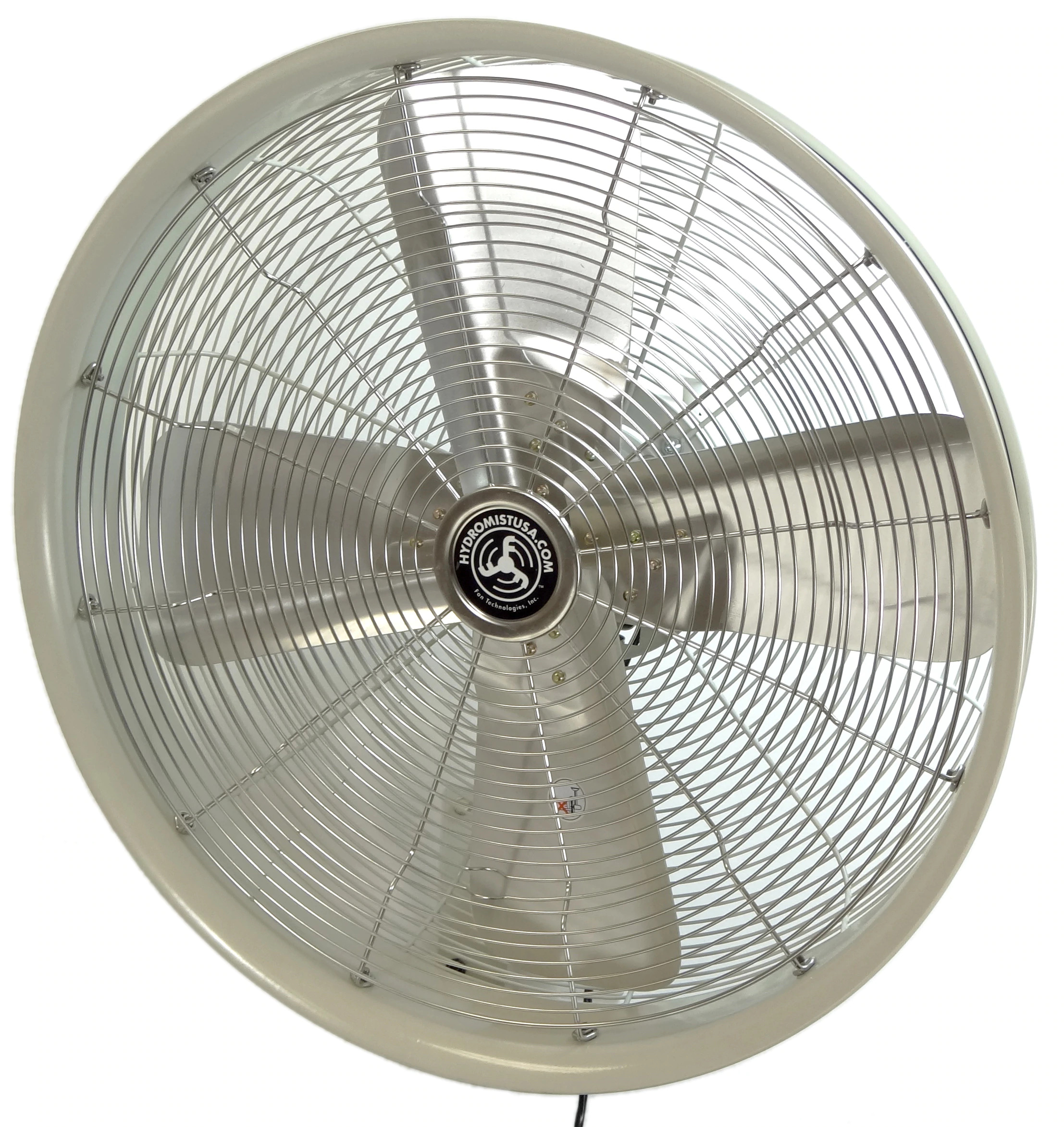 White colored 24 Inch Shrouded Ocscillating Outdoor Indoor Fan