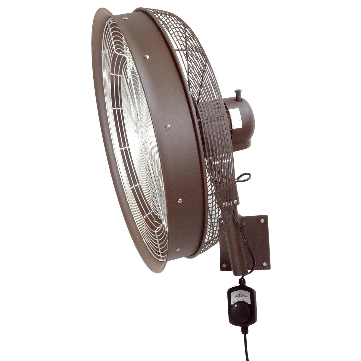 side view of 24 Inch Shrouded Ocscillating Outdoor Indoor Fan