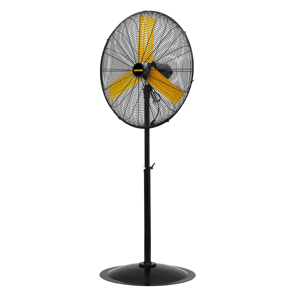 """30"""" Master High Velocity Pedestal Fan with yellow 3 blades"""