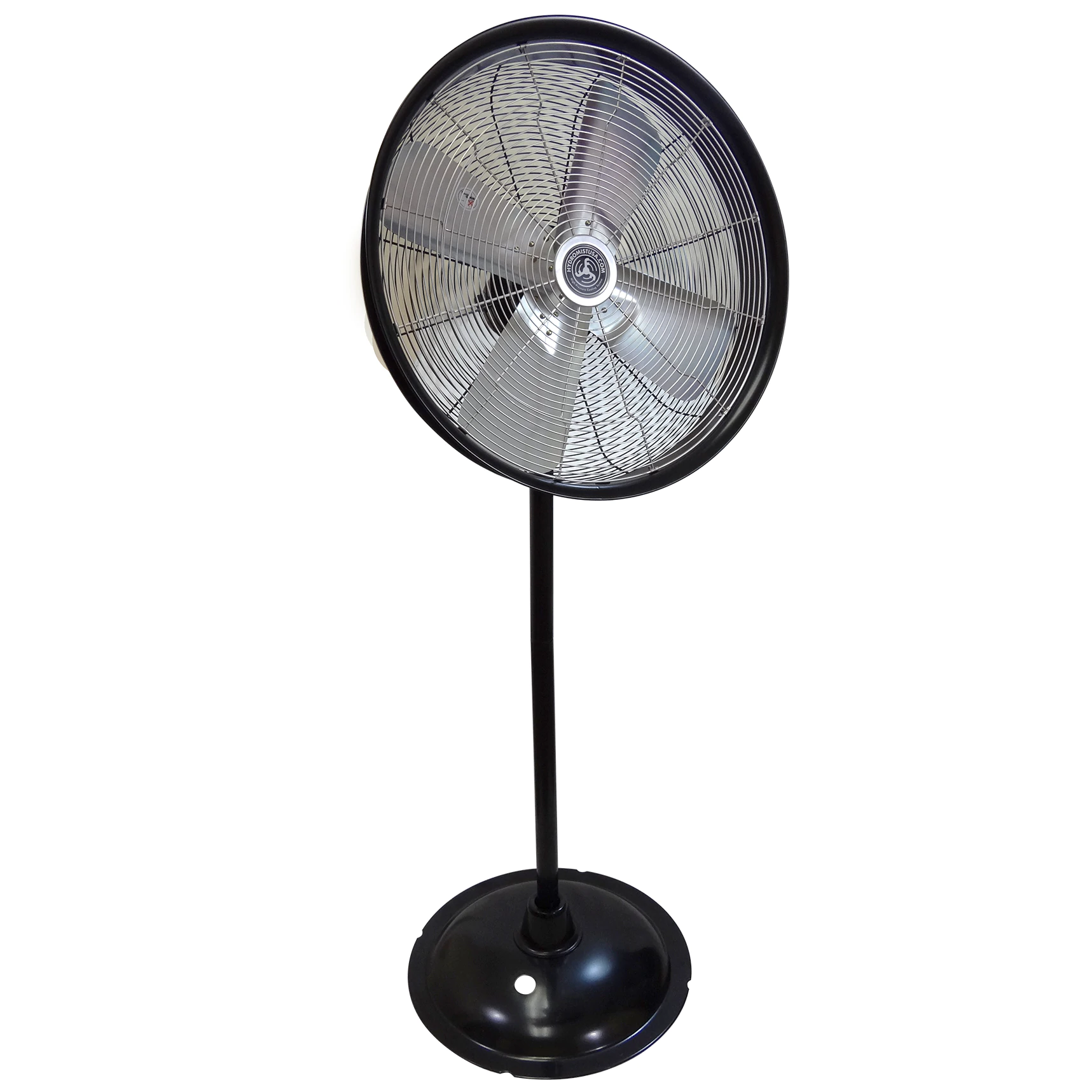 24 Inch Shrouded Ocscillating Outdoor Indoor Fan-3 Speeds on a stand black