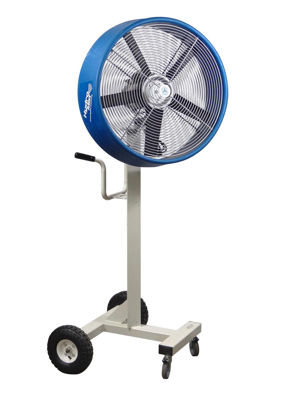"""front view of The """"BOSS"""" Industrial Outdoor /Indoor 24inch Shrouded Oscillating Floor Fan-2 Speeds"""