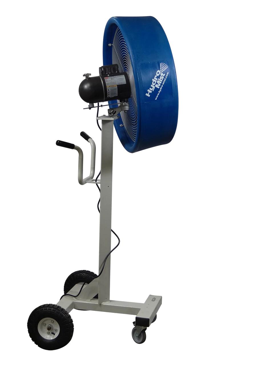 """side view of The """"BOSS"""" Industrial Outdoor /Indoor 24inch Shrouded Oscillating Floor Fan-2 Speeds"""