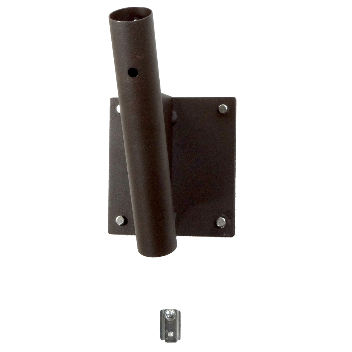 24 Inch Textured Brown Shrouded Outdoor Wall Mount