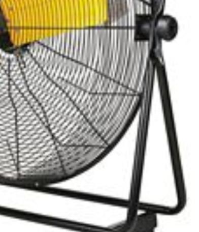 "side closeup for 30"" High Velocity High Velocity Floor Fan"