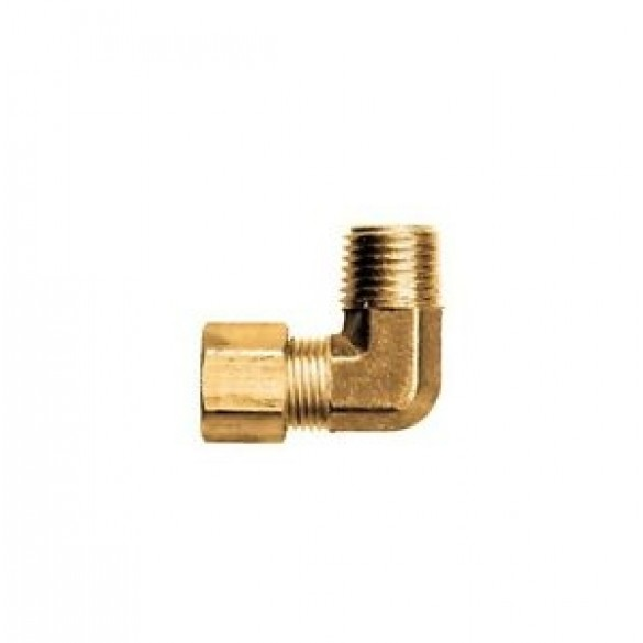 """front view of Brass Male Elbow 3/8"""" Tube x 1/8"""" NPT"""