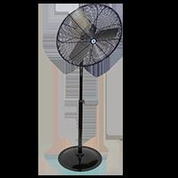 """24"""" Hazardous Location Pedestal Fan black"""
