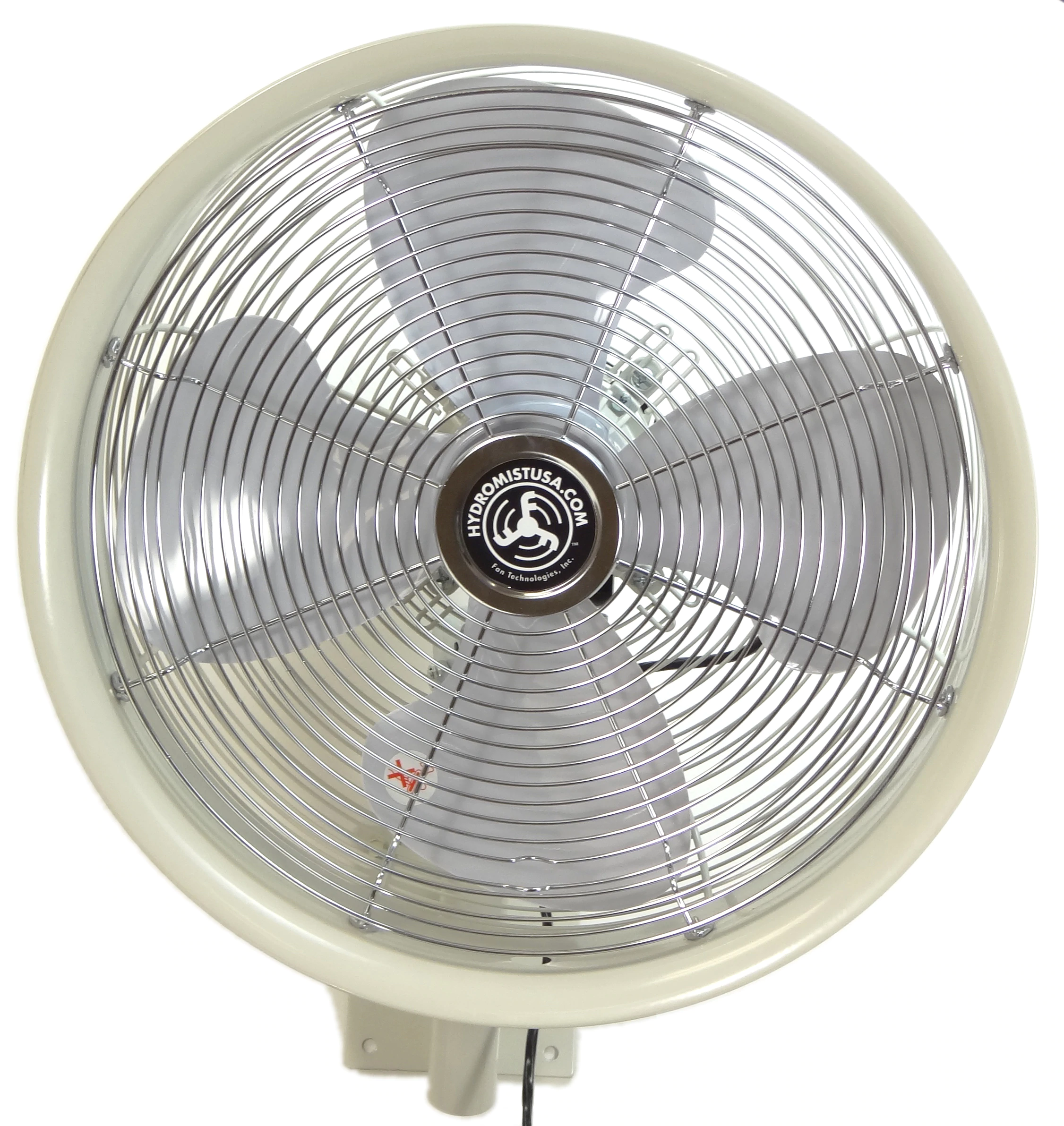 Outdoor 18 Inch Shrouded Oscillating Fan white
