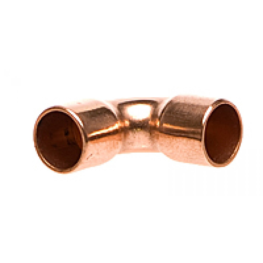 """front view of Copper Elbow 3/8"""""""