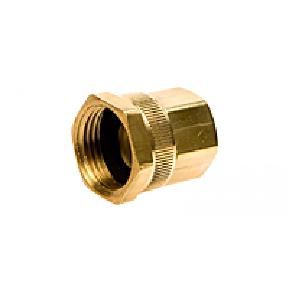 """Side view of Hose Adapter 3/4"""" x 1/2"""" for installing misting systems"""