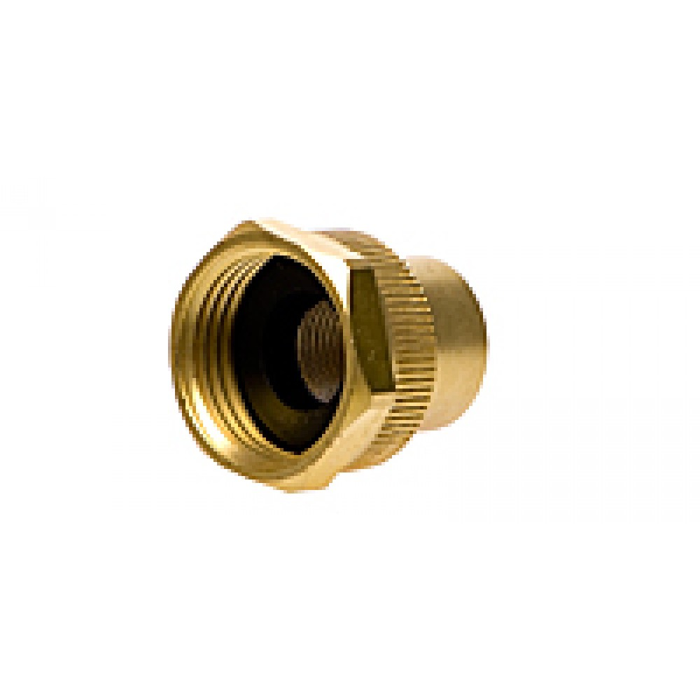 """Side view of Hose Adapter 3/4"""" x 3/8"""" useful for misting system"""