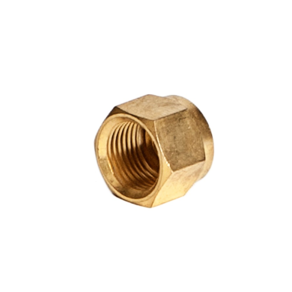 """Side view of Brass Compression Nut 3/8"""""""