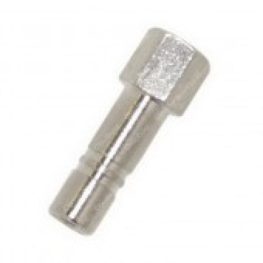 """top view of Nozzle Adapter 1/4"""" Stud x 10/24 Straight"""