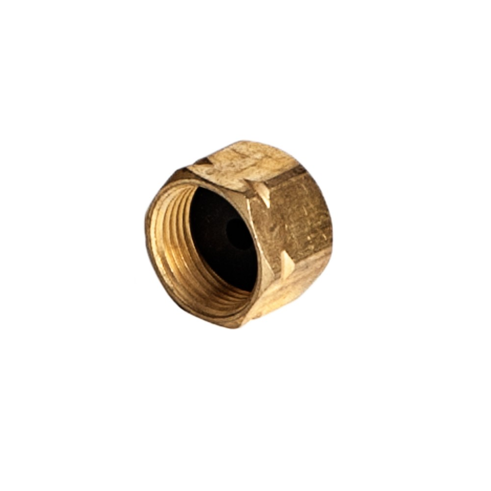 """Side view of Brass End Cap 3/8"""""""