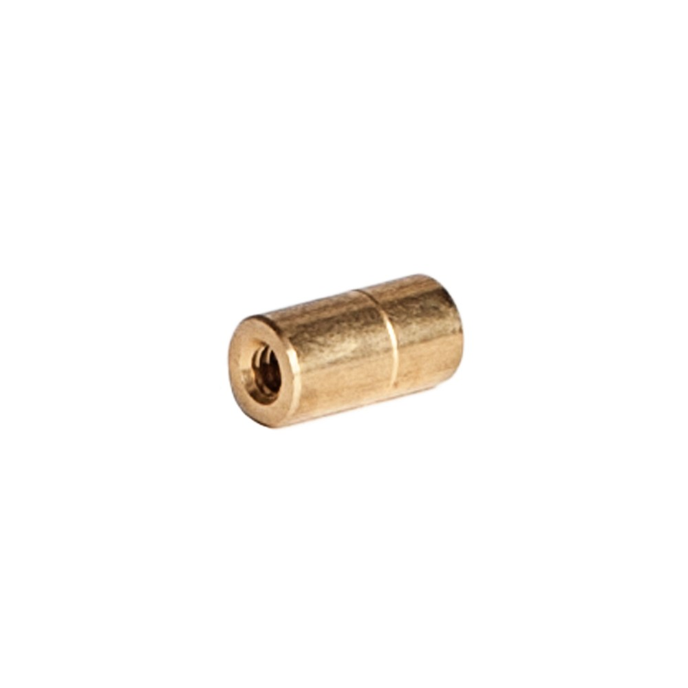 """Side view of Brass Nozzle Bushing 3/8"""" OD X 1/4' ID X 10/24"""