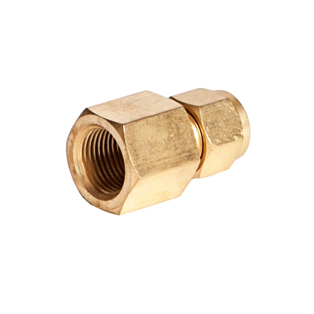 """Side view of Brass Female Adapter 1/2"""" x 3/8"""" FNPT"""