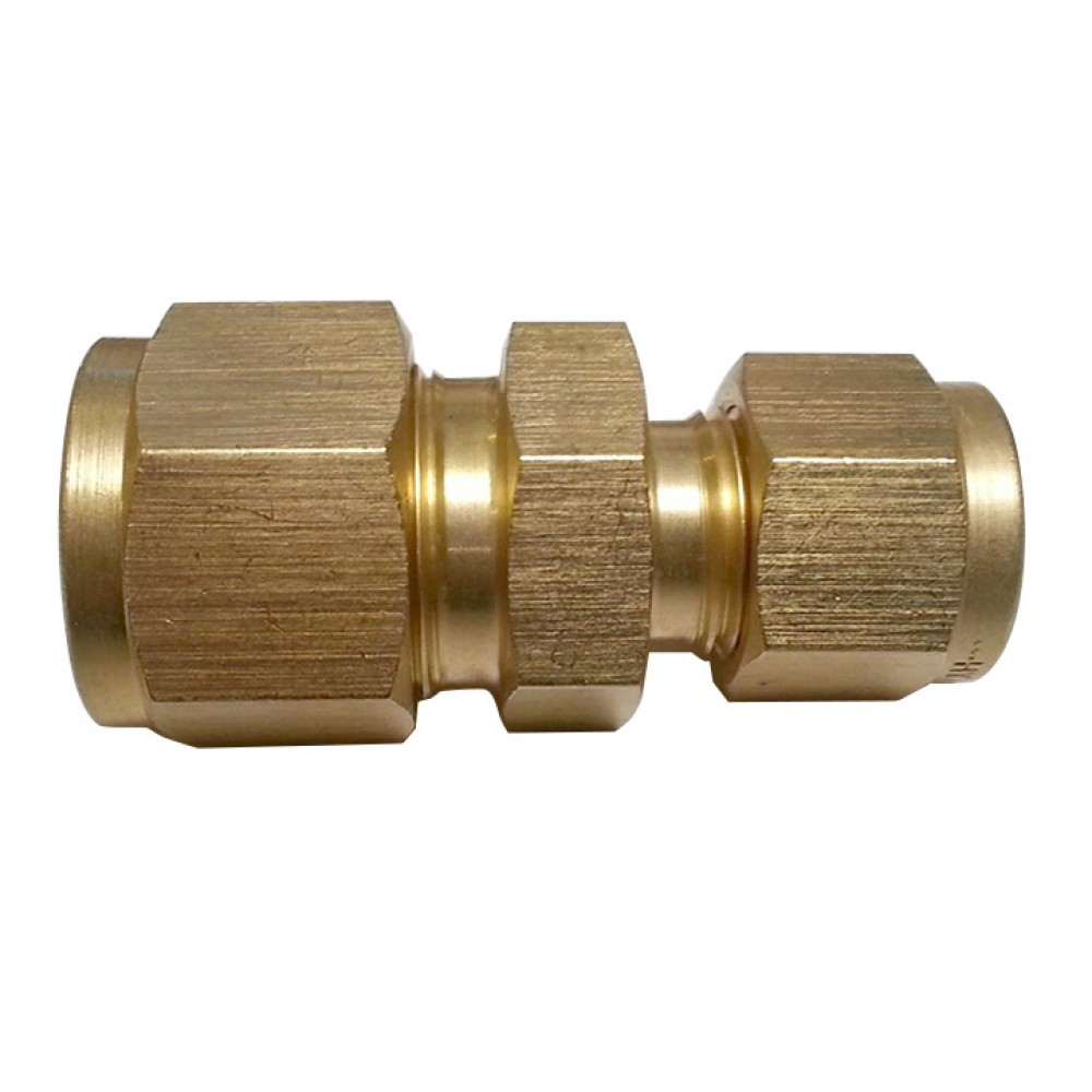 """Front view of Brass Reducing Union 3/8"""" x 1/4"""""""