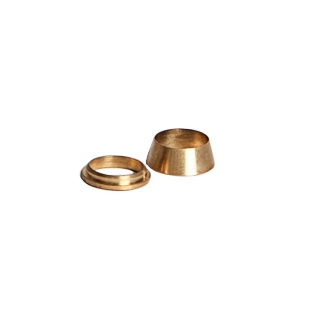 """Replacement Brass Ferrule Fittings 3/8"""""""