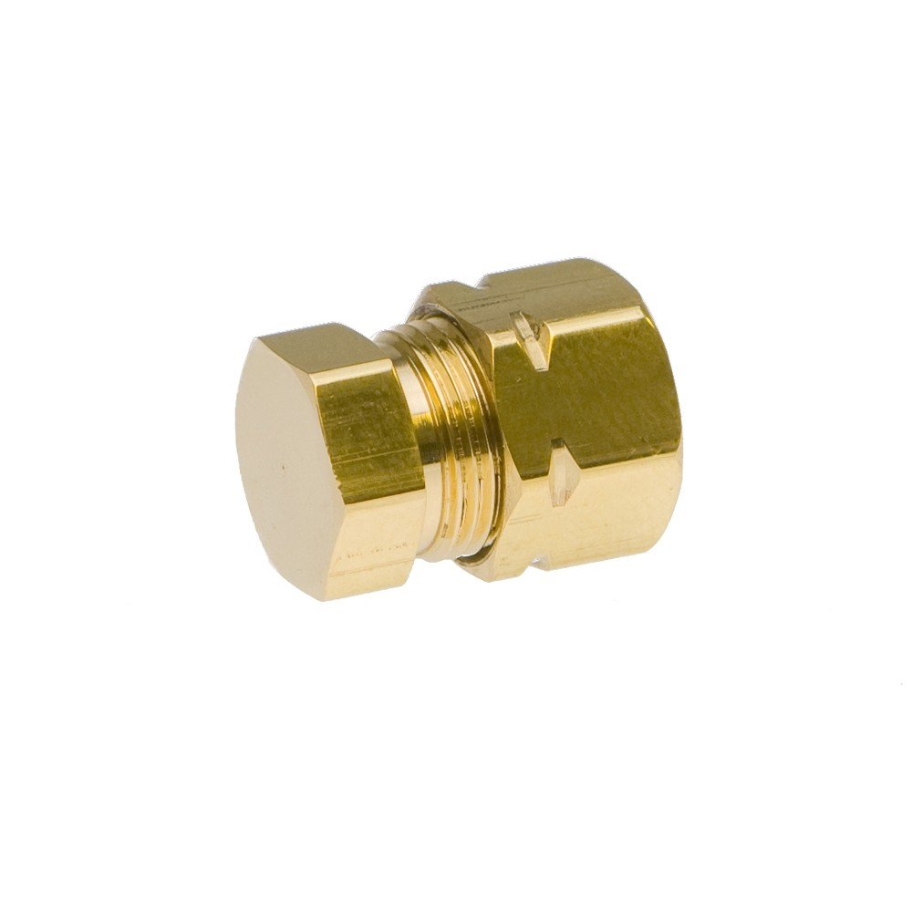 """Side view of Brass End Plug 3/8"""""""