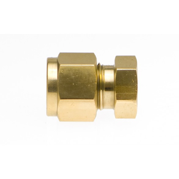 """Front view of Brass End Plug 3/8"""""""