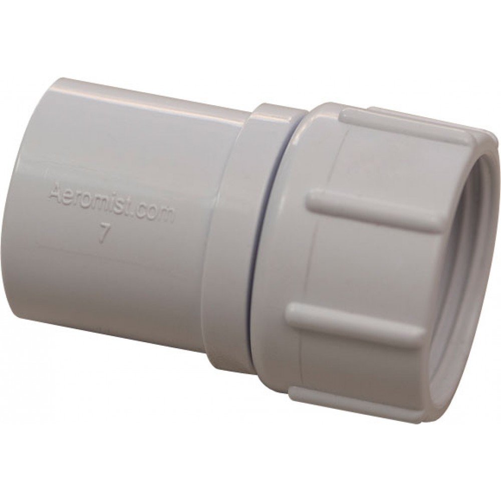 """Front view of 1/2"""" PVC Garden Hose Adapter"""
