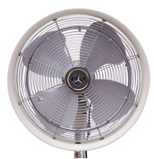 Cool Caddie Fan Attachement white colored with 4 wings.